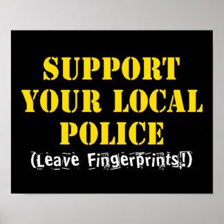 Poster Soutenez votre police locale - laissez les
