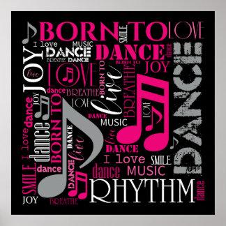 Poster Soutenu pour danser ID277 rose