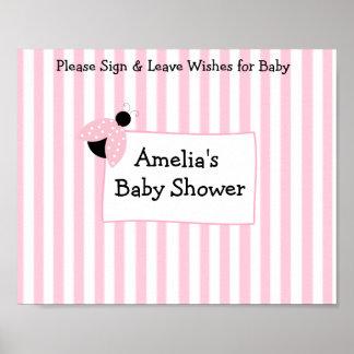 Poster Souvenir personnalisé d'affiche pour le baby