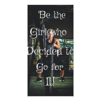 Poster Soyez la fille… Affiche de motivation de mur