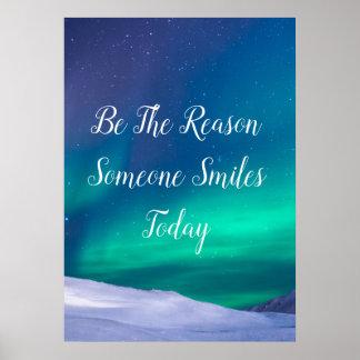 Poster Soyez la raison que quelqu'un sourit aujourd'hui,