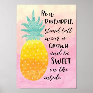 Poster Soyez un ananas