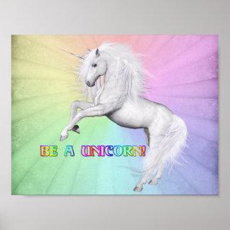 Poster Soyez une licorne