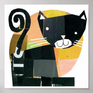 Poster Spectres de chat noir