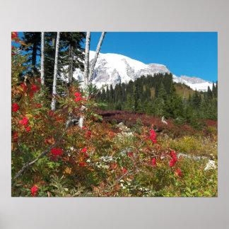 Poster Splendeur d'automne du mont Rainier