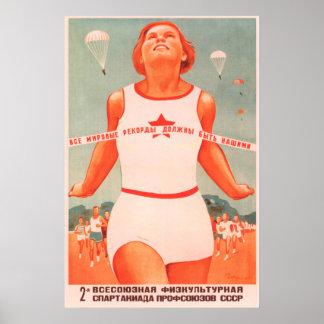 Poster Sport soviétique