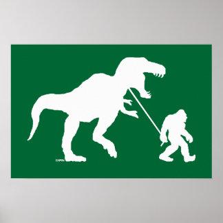 Poster Squatchin allé avec T-rex