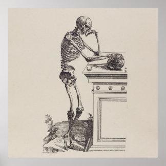 Poster Squelette de pensée