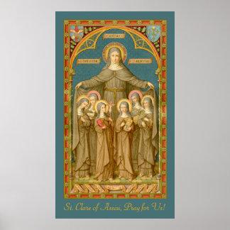 Poster St Clare d'Assisi et des nonnes (SAU 27)