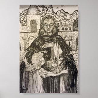 Poster St Martin de Porres et enfant