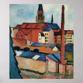 Poster St Marys avec les Chambres et la cheminée avant