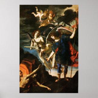 Poster St Michael Arkhangel sauvant des âmes dans le