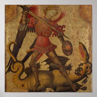 Poster St Michael et le dragon