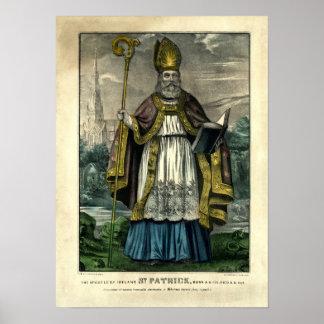 Poster St Patrick de Currier et d'Ives (1834-1907)