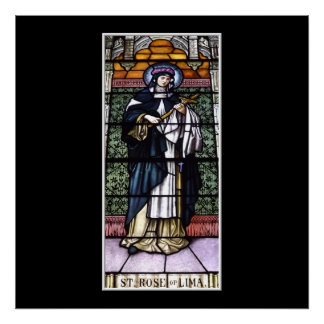 Poster St Rose de Lima - priez pour le vitrail nous-souil