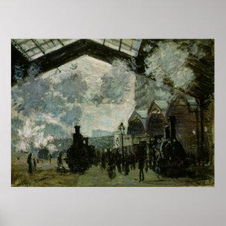 Poster Station de Lazare de saint par Claude Monet
