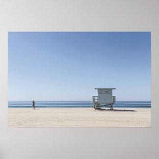 Poster Station de maître nageur sur une plage