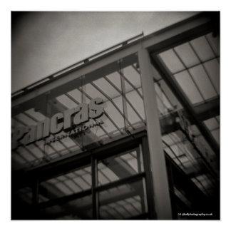 Poster Station Londres - appareil-photo de Saint-Pancras