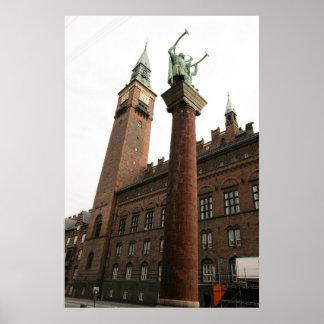 Poster Statue Danemark de Copanhagen