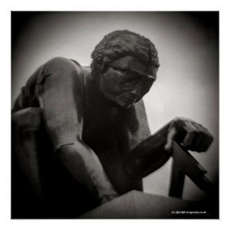 Poster Statue de bibliothèque britannique - photographie