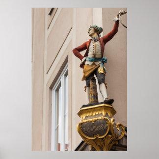 Poster Statue flamboyante de bâtiment