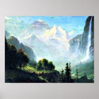 Poster Staubbach tombe près de Lauterbrunnen Suisse