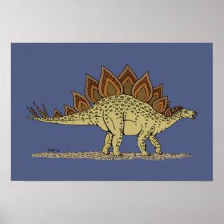 Poster Stegosaurus