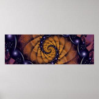 Poster Stingers 1001 en spirale de la fractale d'un