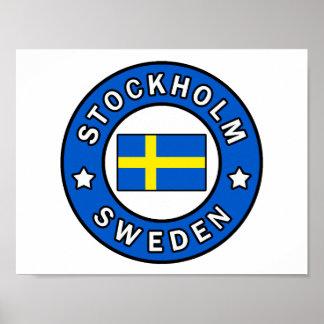 Poster Stockholm Suède