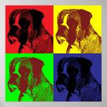 Poster Style d'art de bruit de chien de boxeur