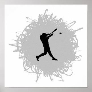 Poster Style de griffonnage de base-ball