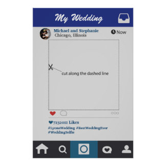 Poster Style d'Instagram épousant l'appui vertical de