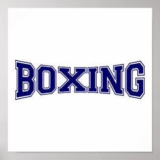 Poster Style d'université de boxe