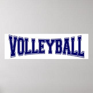 Poster Style d'université de volleyball