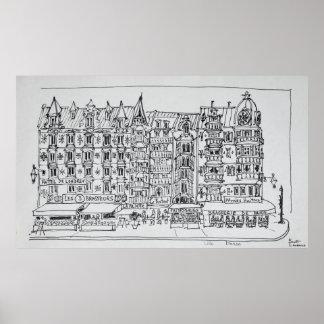 Poster Style | Lille, France de Haussmann