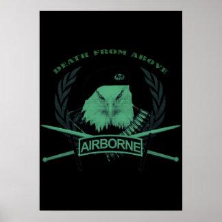 Poster Style militaire d'insignes de troupes aéroportées