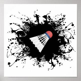 Poster Style urbain de badminton