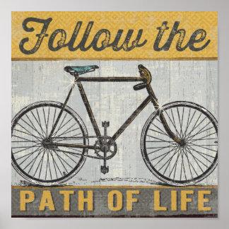 Poster Suivez le chemin de la citation de la vie