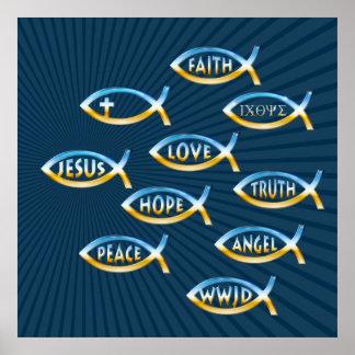 Poster Suivez-le inspiré chrétien de |