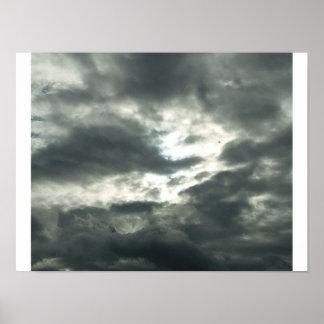Poster Sun et affiche de nuages