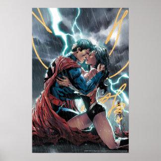 Poster Superman/art promotionnel comique femme de
