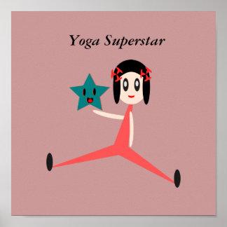 Poster Superstar de yoga