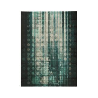 Poster Sur Bois Abrégé sur technologie avec le déplacement de