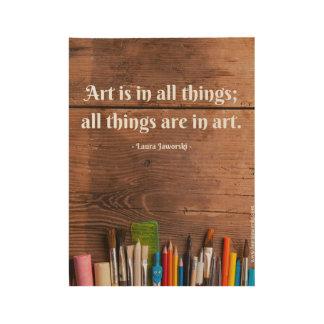 Poster Sur Bois Affiche en bois d'art