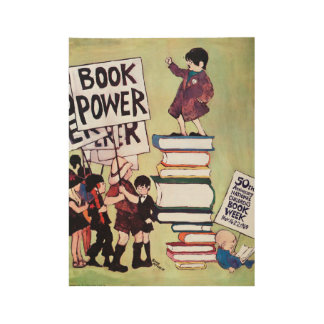 Poster Sur Bois Affiche en bois de la semaine du livre de 1969