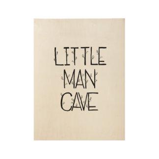 Poster Sur Bois Affiche en bois de petite caverne d'homme