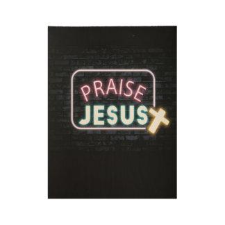 Poster Sur Bois Affiche en bois faite sur commande de Jésus