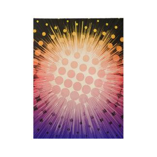 Poster Sur Bois Art de bruit lumineux de superhéros