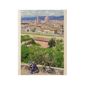 Poster Sur Bois Artiste à Florence