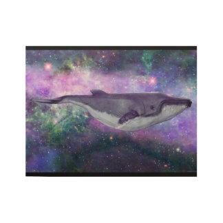 Poster Sur Bois Baleine dans la galaxie de Spectacular d'étoiles